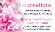 Azalea Creations White Business Card