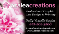 Azalea Creations Black Business Card